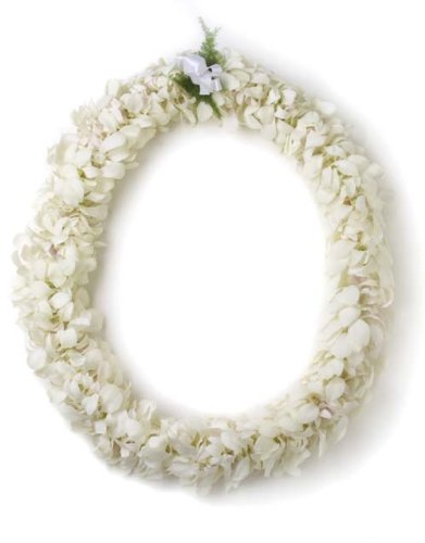 Fresh Hawaiian Lei - Double White Orchid Lei by Hawaii Flower Lei
