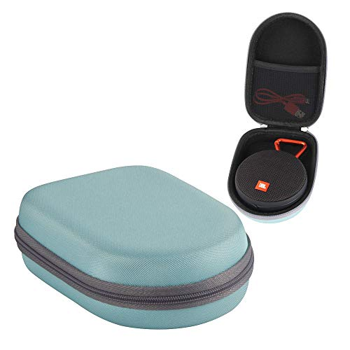 Hermitshell EVA Hard Protective Case Carrying Pouch Cover Bag Fits JBL Clip 2 Waterproof Portable Bluetooth Speaker (Teal)
