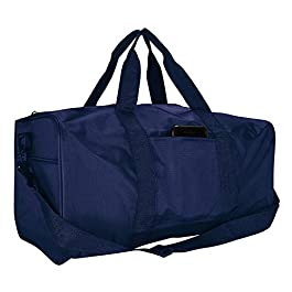 19″ Duffle Duffel Bag Travel Sports Gym Work Out Clothing Travel Bag (N1999) (N1999 – Pack of 1 – Navy (19″))