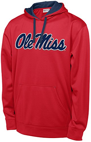 Athletic Hood Majestic (NCAA Mississippi Old Miss Rebels Men's T-Formation 2 Long Sleeve Hooded Fleece Shirt, XX-Large, Red)