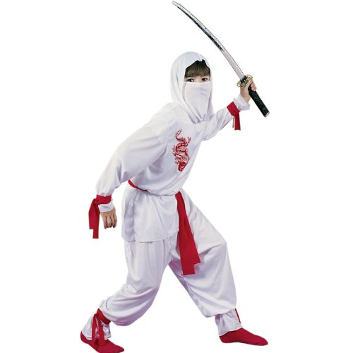 [White Ninja - Small (4-6)] (White Ninja Costumes For Kids)