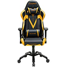 DXRacer Valkyrie Series OH/VB03/NA Racing Seat Office Chair Gaming Ergonomic adjustable Computer Chair with - Included Head and Lumbar Support Pillows (Black / Gold)