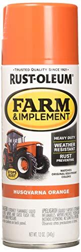 Rust-Oleum   Husqvarna Orange 12 oz. Farm & Implement Spray Paint - RUSTOLEUM 303472