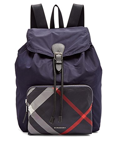 Price comparison product image Burberry Navy Nylon Packable Backpack