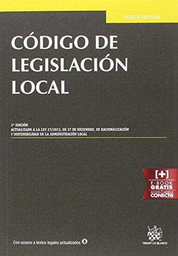 Descargar Libro Código De Legislación Local 3ª Edición 2016 Hilario Llavador Cisternes