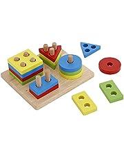 اللوحة الخشبية التعليمية للأطفال المتضمنة لعبة ألغاز بتكوين الأشكال الهندسية