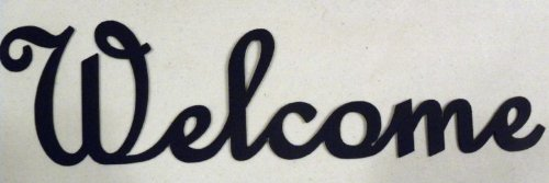 Welcome Word Simple Font Metal Wall Art Home Decor