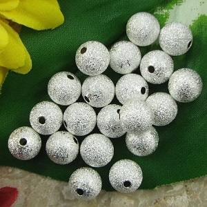 (Beautiful Bead 10mm Silver Plated Stardust Sparkle Round Beads for Bracelets DIY Jewelry Making (20pcs ))