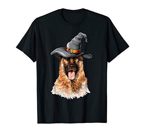 German Shepherd Halloween Costume Ideas Happy Halloweenie T-Shirt]()