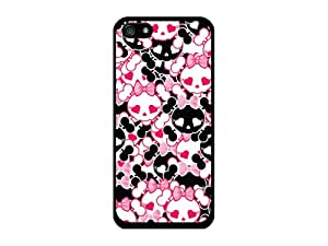 Cellet Proguard Case with Skull Bow (2) for Apple iPhone 5 - Black
