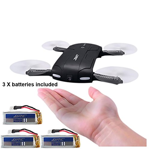Inkach-Pocket-Selfie-Drone-Foldable-Headless-Mode-RC-Quadcopter-with-HD-Camera-24G-6-Axis-Gyro-Altitude-Hold-3PCS-500mAh-Battery