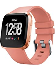 TERSELY Band Strap for Fitbit Versa/Versa Lite, Classic Soft TPU Replacement Silicone Sports Adjustable Bands Fitness Replacement Sport Bracelet Strap for Fitbit Versa/Lite Tracker