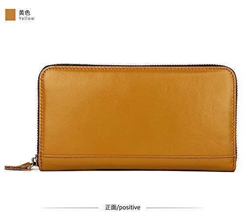 Borse sezione card in uomo Shield e Yqxr lunga a Unisex tracolla Multi carte Porta borse pelle nero Portafoglio Portafoglio Rfid UdZwO