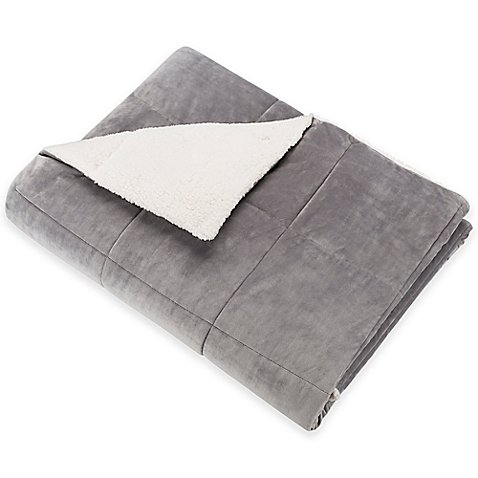 SoSoft Plush Throw Charcoal l 60'' W x 70'' L l Ultra-Soft Polyester Velvet Ground and a Berber Down Sherpa Reverse by SoSof