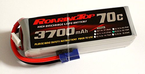 RoaringTop LiPo Battery Pack 70C 3700mAh 6S 22.2V with EC5 Plug for RC Car Boat Truck Heli Airplane ()