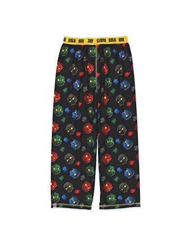 Pants Pajama Fleece Boys (LEGO Ninjago Boys Flannel Lounge Pajama Pants (10-12, Black))