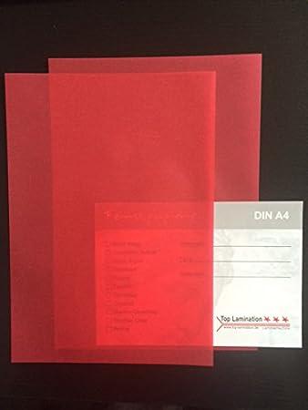 100 Blatt Din A5 Transparentpapier Zanders Spectral Rot 100g M