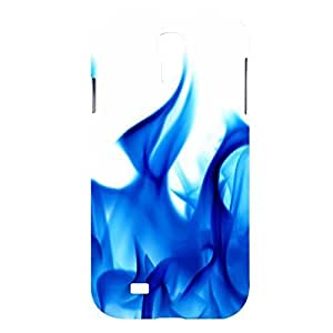 Blue Flame Snap on Plastic Case Cover Compatible with Samsung Galaxy S4 GS4