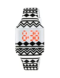Moulin Girls LED Touch-Activated Silicone Aztec Watch #03088.77405