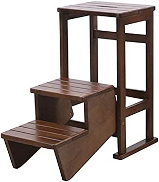 JZX Inicio Paso Heces, Heces Paso Pequeño Pie Heces Escalera Escalera de Madera Escalera de Tijera Plataforma de Doble Uso Climb Ensanchamiento Multifunción Seguridad Domésticos de Cocina Ascend Cubi: Amazon.es: Bricolaje y