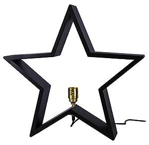 Star Trading LYSeKIL - Iluminación decorativa (Negro, Madera, IP20, Interior, Corriente alterna)