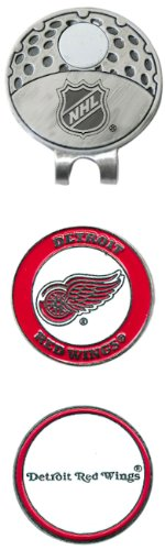 NHL Detroit Red Wings Cap Clip With 2 Golf Ball - Ball Cap Marker Golf