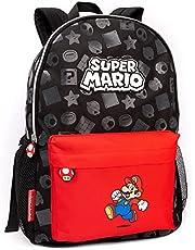 """Nintendo Super Mario Rugzak Kinderen Jongens Meisjes School Rucksack 16"""" Een maat"""