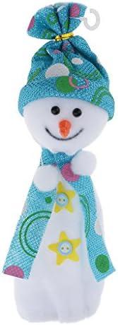 素敵なクリスマス雪だるまアップルキャンディ袋クリスマス結婚式の子供たちはギフトストッキングバッグを扱います - 青