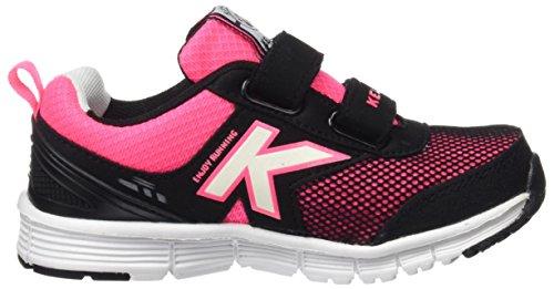 Kelme Unisex-Kinder Runner One Sneakers, Blau/Orange Black (Schwarz)