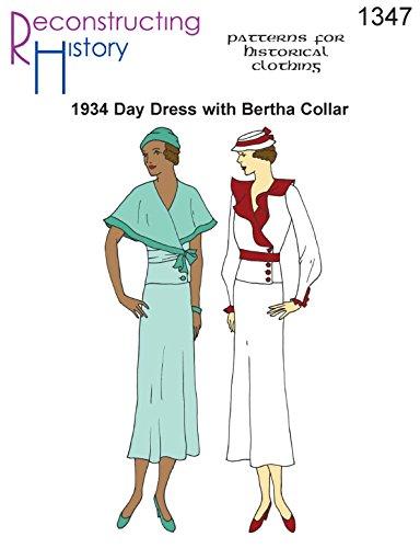 - 1934 Day Dress with Bertha Collar Pattern