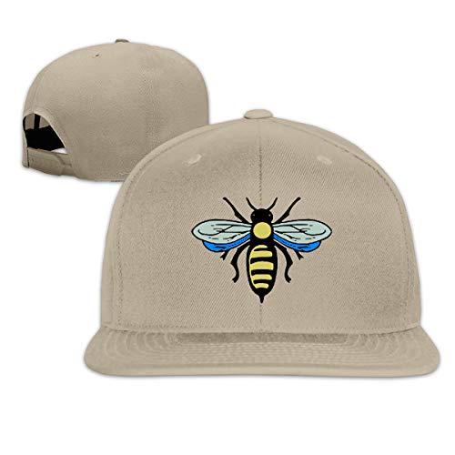 FOOOKL Abeille Bee Flat Visor Baseball Cap, Designed Snapback Hat Natural