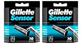Gillette Sensor Razor Refill Cartridges 20 count (2x10 Pack)