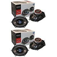 Sony XS-R5744 X-Plod 4-Way 5 x 7 or 6 x 8 380W Car Audio Speaker (2 pairs)