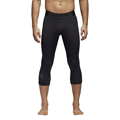 adidas Mens Training Alphaskin Sport 3/4 Tights, Black, Medium