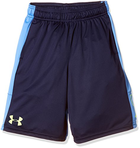 Under Armour Kids Boy's Instinct Shorts (Big Kids) Academy/Canoe Blue/High-VIS Yellow Large