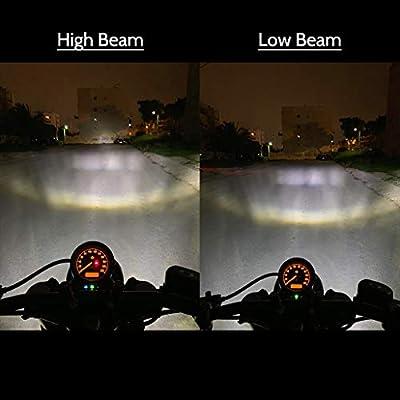 Z-OFFROAD 5-3/4 5.75 LED Headlight Round Motorcycle Headlamp for Harley Davidson Sportster 883 Dyna Street Bob Night Train Rod - Black: Automotive