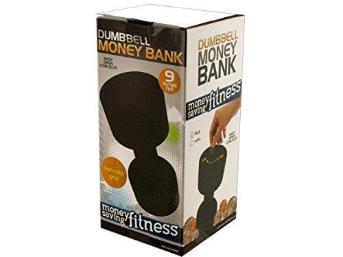 bulk-buys-dumbbell-money-bank-game-black-white