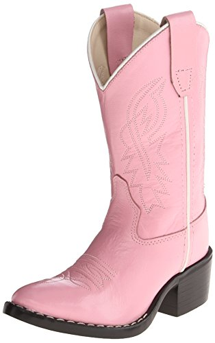Old West Girls' Cowgirl Boot Pink 10 D(M) (Pink Cowgirl Boots Girls)