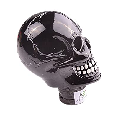 AutoBoy ABy Skull Head Gear Stick Shift Shifter Knob Lever Cover Universal Fit for Most Manual Transmission Vehicles(Black): Automotive