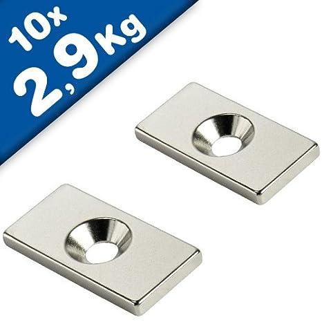 Neodym Magnete 10 x 10 x 5 mm Supermagnete hohe Kraft Quadermagnet N35 25 Stück