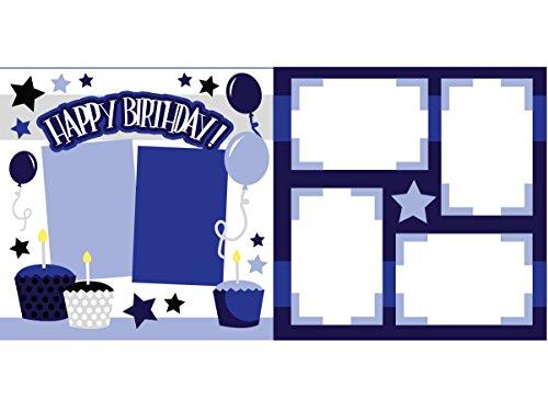 """Happy Birthday Blue"" Scrapbook Kit"