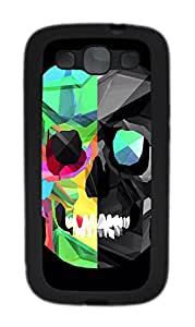Samsung Galaxy S3 I9300 Cases & Covers - Polygon Skull TPU Custom Soft Case Cover Protector for Samsung Galaxy S3 I9300 - Black