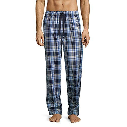(IZOD Men's Poly-Rayon Yarn-dye Woven Sleep Pant, Navy/Yellow, 2X-Large)