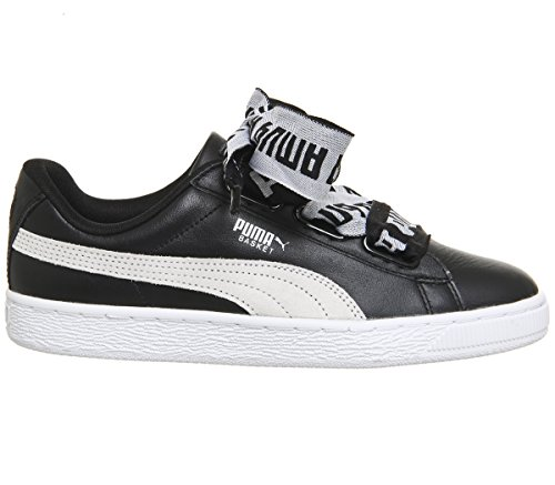 Puma Women Basket Heart Ns Trainers, Black Black