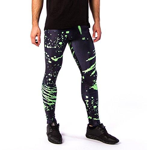 Kapow Meggings New Colorful Print Mens Leggings, Fashion and Yoga Tights, Baselayer Pants