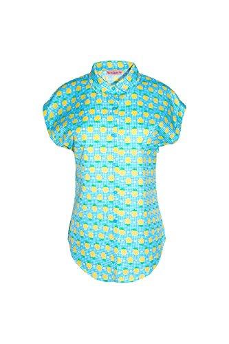 Traka Barraka Morgan, Camisa para Mujer Multicolor (Piñas)