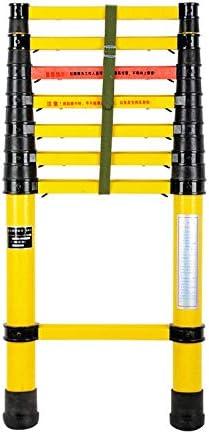 Escalera extensible Escalera telescópica Escalera de extensión de fibra de vidrio de 2 m / 3 m / 4 m / 5 m, con mecanismo de bloqueo de resorte, peldaños antideslizantes, capacidad máxima de 330 lb: Amazon.es: Hogar
