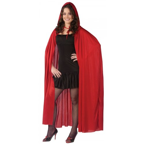 Red Riding Hood Cloak (Fun World Women's Hooded Cape, red,)