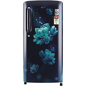LG 190 L 4 Star Inverter Direct-Cool Single Door Refrigerator (GL-B201ABCY, Blue Charm, Moist 'N' Fresh)