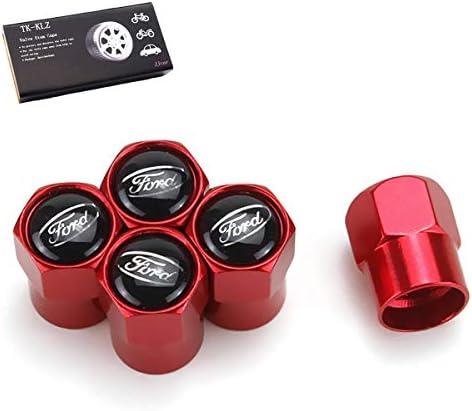 TK-KLZ 金属製車輪タイヤバルブステムキャップ 5個 フォード フォーカス モンデオ クガ フィエスタ エコスポーツ S-max Edge マスタング トランジット タウルス f150 エクスプローラー 装飾アクセサリー